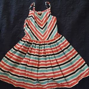 Beautiful striped summer girls dress
